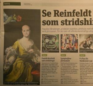 Om vårsalongen på Liljevalchs 2014. Metro (stockholm).