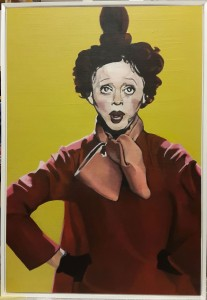 Synergi Edith. Akryl på MDF. 70 x 100 cm.