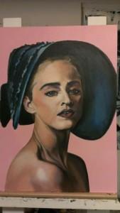 Synergi Madonna. Akryl på MDF. 50 x 70 cm.