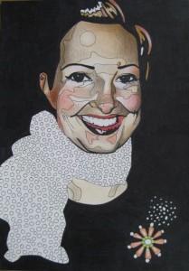 Hanna. Akvarell och tusch på papper. 30 x 42 cm.
