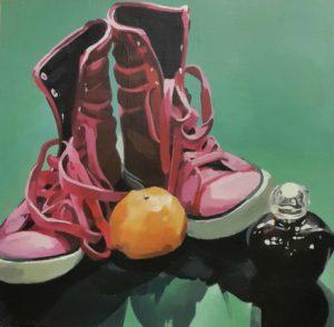 Let my shoes lead me forward Akryl på MDF