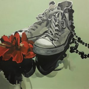 You are the generation that bought more shoes and you get what you deserve. Akryl på MDF. 50 x 50 cm.